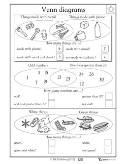 venn diagram grade 2 venn diagrams part 2 math worksheets venn