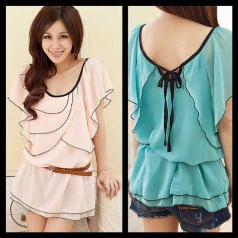 Blouse Belt Sifon Motif Pjg blouse sifon sifon shop
