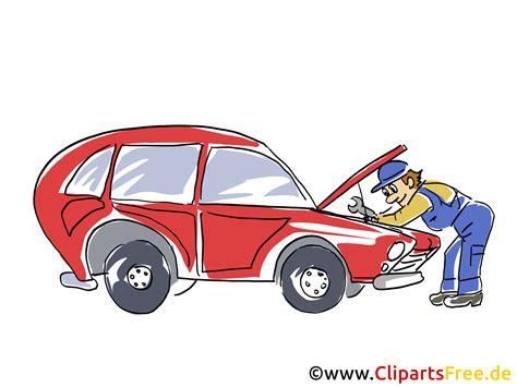 Clipart Auto - kfz werkstatt clipart bild grafik illustration