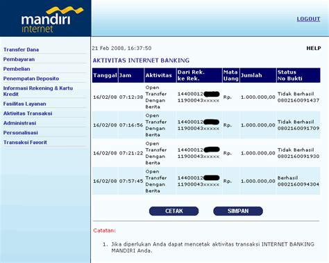 email bank mandiri dudi gurnadi 187 transfer e banking mandiri bermasalah