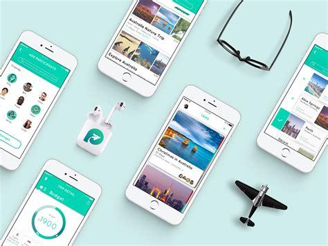 app design on behance piu travel app ui ux design on behance