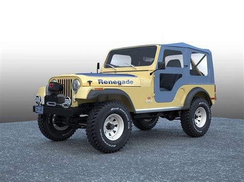 jeep cj renegade 3d jeep cj 5 renegade model