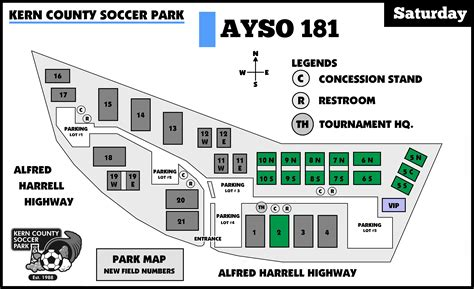 ayso section 10 league field locations map