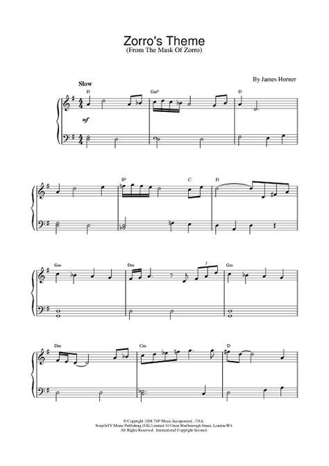 theme song zorro lyrics theme from zorro sheet music music for piano and more