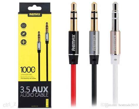 Original Remax Rl 20s Aux 3 5mm Audio Cable Splitter T1910 2017 original remax 3 5mm aux cable audio 1m length audio