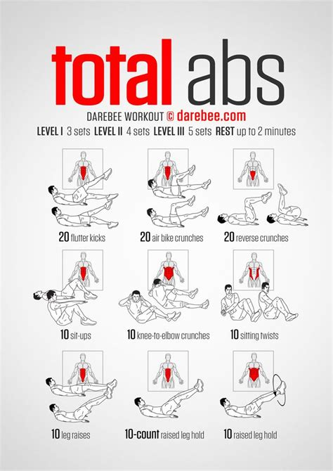 total abs darebee workout ab workouts pinterest