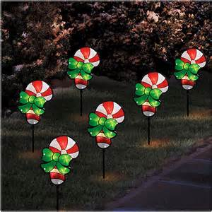 holiday time glitter pathway candy cane christmas lights
