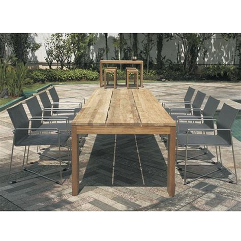 recycled teak outdoor furniture mamagreen outdoor slatted teak dining table homeinfatuation