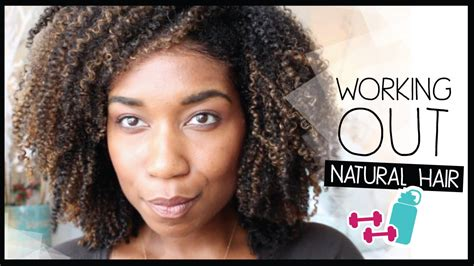grwm preparing my natural hair to work out natural hair before after exercise tips youtube