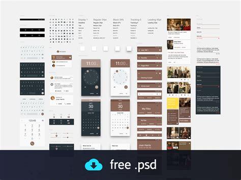 material design free ui kit free material design ui kit psd titanui