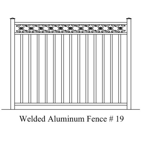 aluminum fence sections west palm beach fence manufacturer and installation