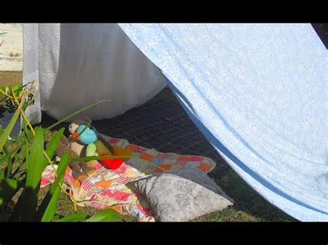 how to build a tent how to make a homemade tent youtube