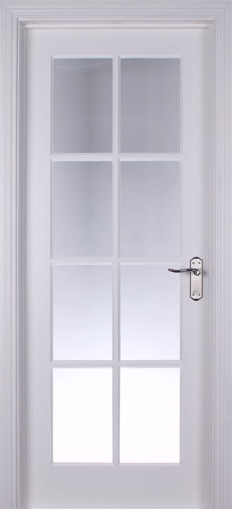 Interior White Glazed Doors 8 Lite White Primed Pre Glazed 40mm Doors Glazed Doors
