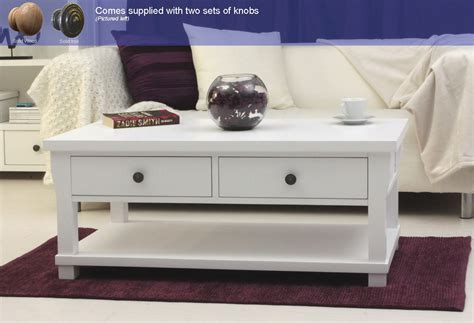 White Painted Coffee Table New White Painted Living Room Furniture Four Drawer Storage Coffee Table Ebay