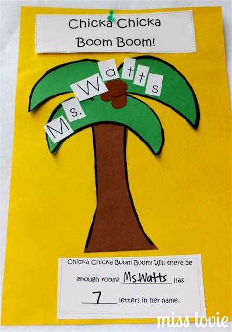 chicka chicka boom boom tree template miss lovie favorite books and crafts with free templates