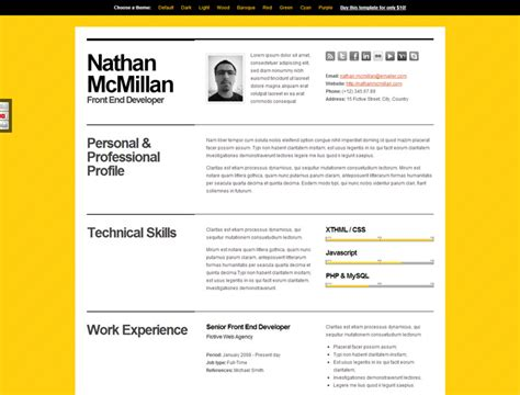 resume psd template mono bold resume psd template mono