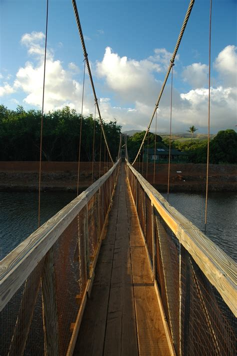 hanapepe swinging bridge incredible world s scariest swinging bridges would have