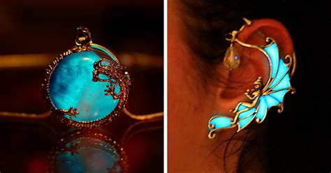 magical jewelry that glows in the dark