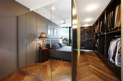 modern bedroom closet modern spaces with mirrored closet doors