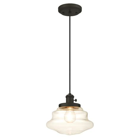 Bronze Mini Pendant Light Westinghouse 1 Light Rubbed Bronze Mini Pendant 6346000 The Home Depot