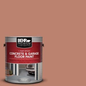 behr premium 1 gal pfc 13 sahara sand 1 part epoxy concrete and garage floor paint 93001 the