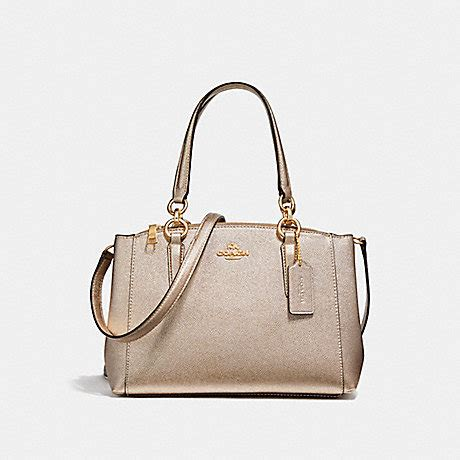 Tas Coach Original Coach Mini Teal Glitter coach f23337 mini christie carryall light gold platinum coach handbags coach