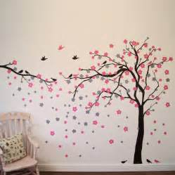 floral blossom tree wall stickers by parkins interiors children s butterfly fabric wall stickers by koko kids