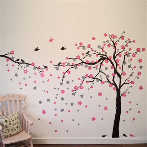 flower wall stickers uk floral blossom tree wall stickers by parkins interiors