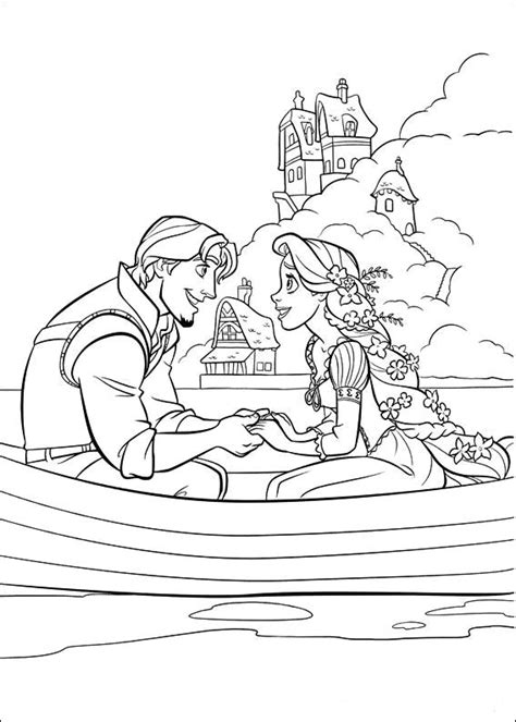 Princess Coloring Pages Disney Tangled Coloring Pages