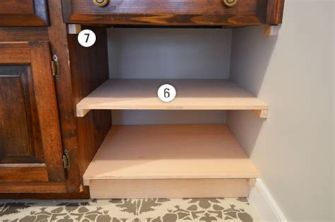 how to add a shelf to a cabinet call it vanity call it shelf ishness young house love