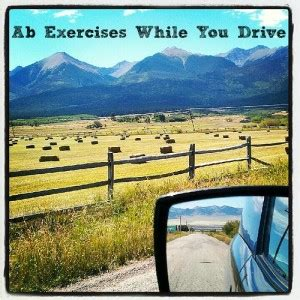 exercise to flatten your stomach while driving
