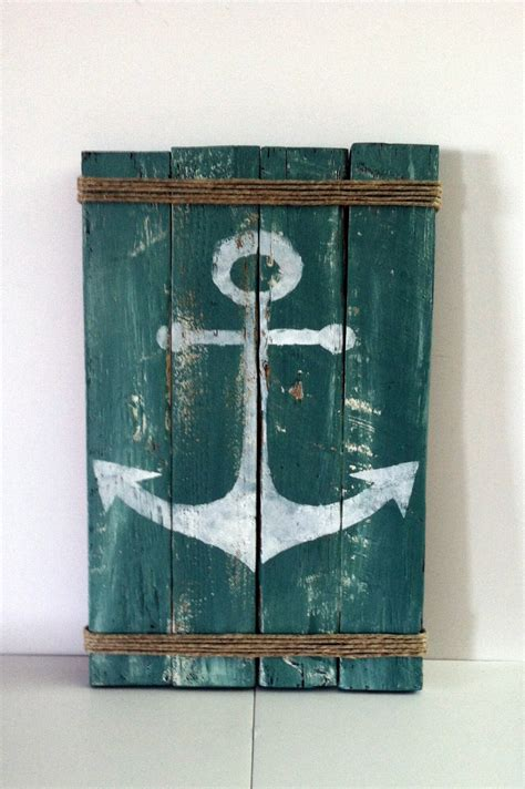 Lake Decor Items by Pallet Anchor Sign Rustic Lake Decor Rustic Decor