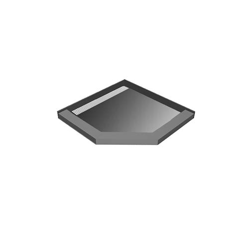 tileable shower pan 42 x 48 redi neo 42 in x 42 in neo angle shower base with left