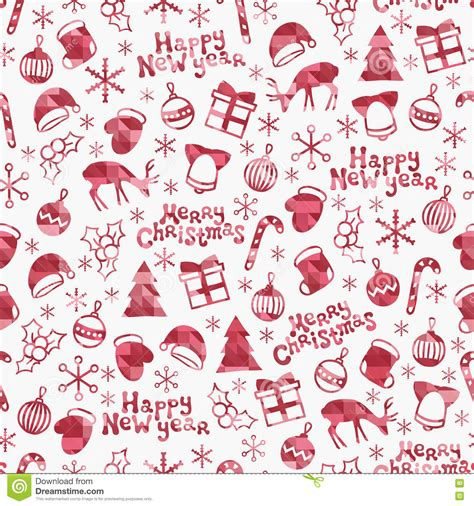 new year seamless pattern merry and happy new year 2017 season