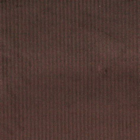 Dark Brown Stripe Corduroy Velvet Upholstery Fabric By The
