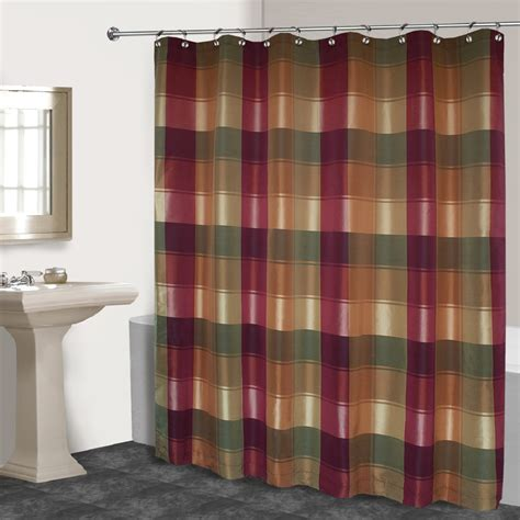 standing shower curtain united curtain company quot plaid quot crisp classic free