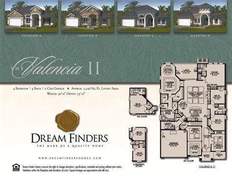 dream finders homes floor plans dream finders homes valencia ii model floor plan