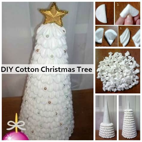 cotton diy christmas diy cotton tree diy amazing ideas