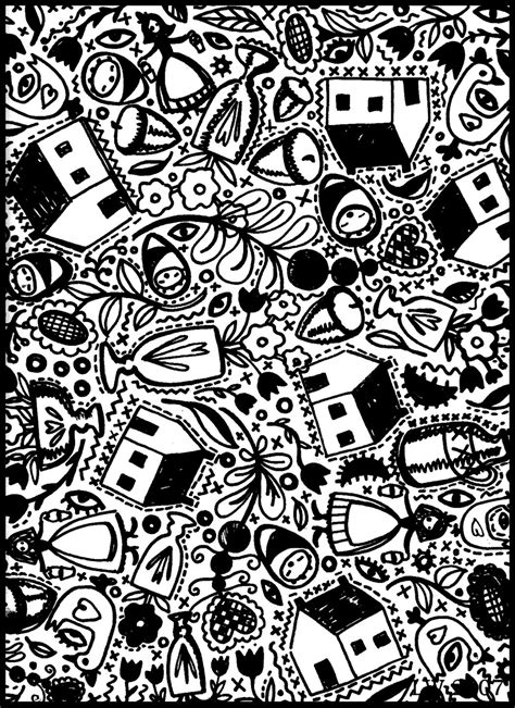 doodle one americana doodle coloring page 1 by leslie wilson 2007