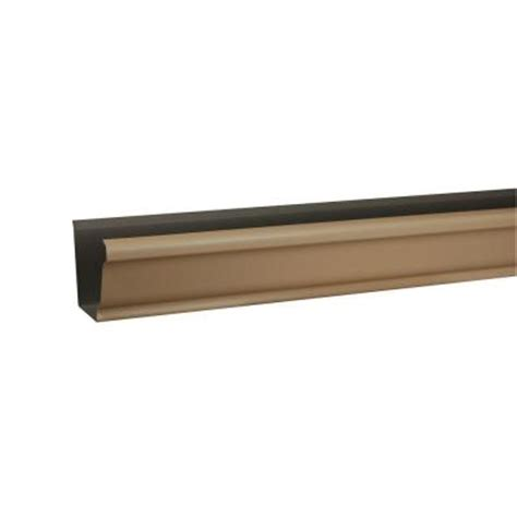 amerimax home products 10 ft brown vinyl k style gutter