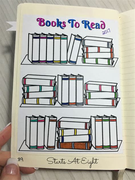 bullet journal book free printable reading logs sized or adjustable for