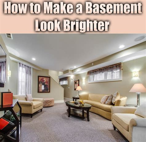 how to make a basement look brighter corner