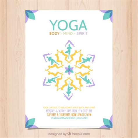 Yoga Plakat Kostenlos abstrakt yoga plakat download der kostenlosen vektor