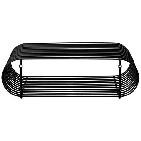 mensola nera aytm mensola curva nera design shop