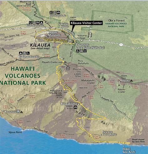 volcanoes in hawaii map visit sensational hawaii volcanoes national park best