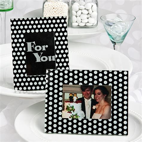 black and white wedding place card holders black and white polka dot photo frame place card holders