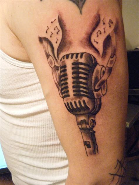 old school microphone tattoo designs microphone by msaiko on deviantart
