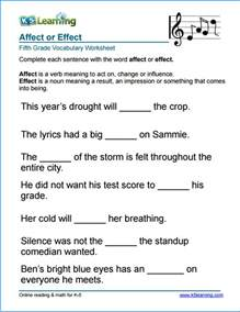 grade 5 vocabulary worksheets printable and organized by