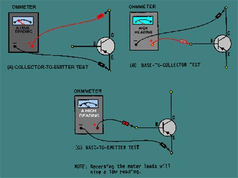test bjt transistor with multimeter collector emitter base