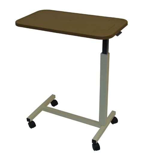 adjustable bed table adjustable height overbed table with plastic top